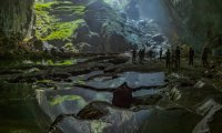 rain outside a fairy's cave