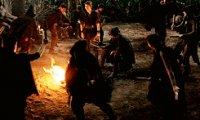 Bonfire night at Pan's campsite.