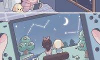 Playing Animal Crossing New Horizons at Night