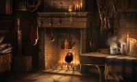 Hagrid's Hut at Night