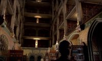 A quiet afternoon in the TARDIS library...