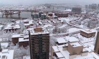 Apartment snow day