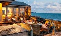 The house on the ocean coast.