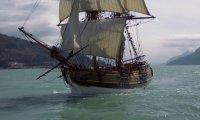 A tall ship on the open ocean