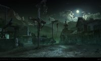 A gunslinger wanders through a ghost town late at night, while demons await around every corner