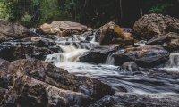 softly flowing stream