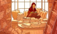 library-café