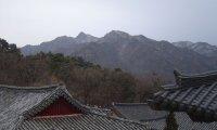 Mountain Temple Small Stream