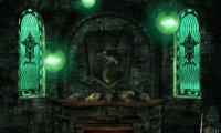 Enjoy a quiet night in Slytherin common room