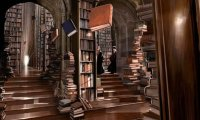 a quite place at the Hogwarts library