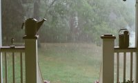 Sitting on the porch during a rain storm