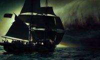 village, sea, pirates