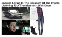 Studying for a case while in the impala during a thunderstorm