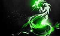 Silver dragon in