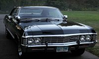 Sitting in the back of the Impala