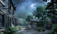 Rainy garden dance