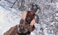Snowfall in Skyrim