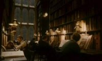 Working in the Hogwarts Library