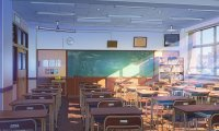 Japanese classroom in July