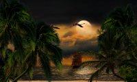 Playa de noche