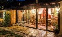 Evening in the garden veranda