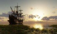 Ship near the Shore