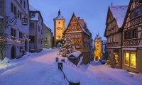 A cozy winter town