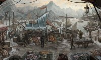 Medieval fish market for P&P