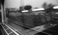 Rainy train ride home