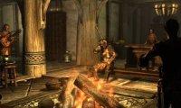 Travelling scholar in an inn in Skyrim