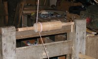 Green woodworking on a pole lathe