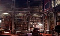 Hushed Hogwarts Library