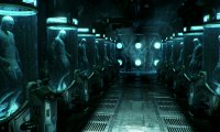 Cyborg Hybernated Inside Water Tank