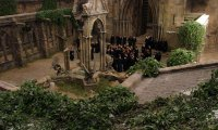 Studying in the Courtyard at Hogwarts