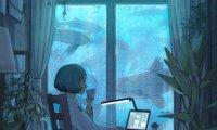 calming underwater study room