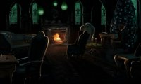 At night, in the Slytherin Common Room.