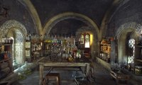 Snape's potions room during a test