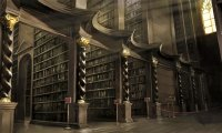 The Hogwarts Castle Library