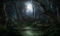 An eerily quiet swamp