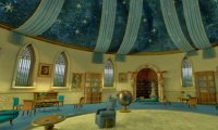 Studying in the Ravenclaw common room in the afternoon