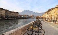 A bike ride through Grenoble