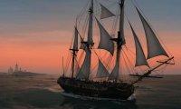 Caribbean Sea fare  XVIII, Tall Wooden Ship, gull, whales