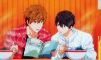University study sessions with Mako and Haru at a nearby cafe.