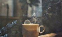 Quiet, rainy autumn café