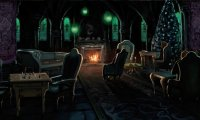 Asleep in the Slytherin Common Room