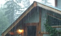 Relax and watch the rain from the comfort of your log cabin
