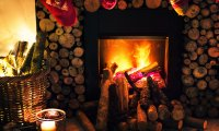 Love Making by Fireplace in Village