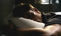 On Dean's bed