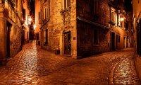 fantasy city street at night
