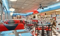 An old fashioned  diner restaurant